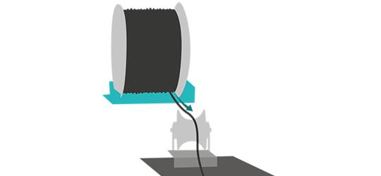 schéma utilisation touret et galet pour tirage de cable en souterrain