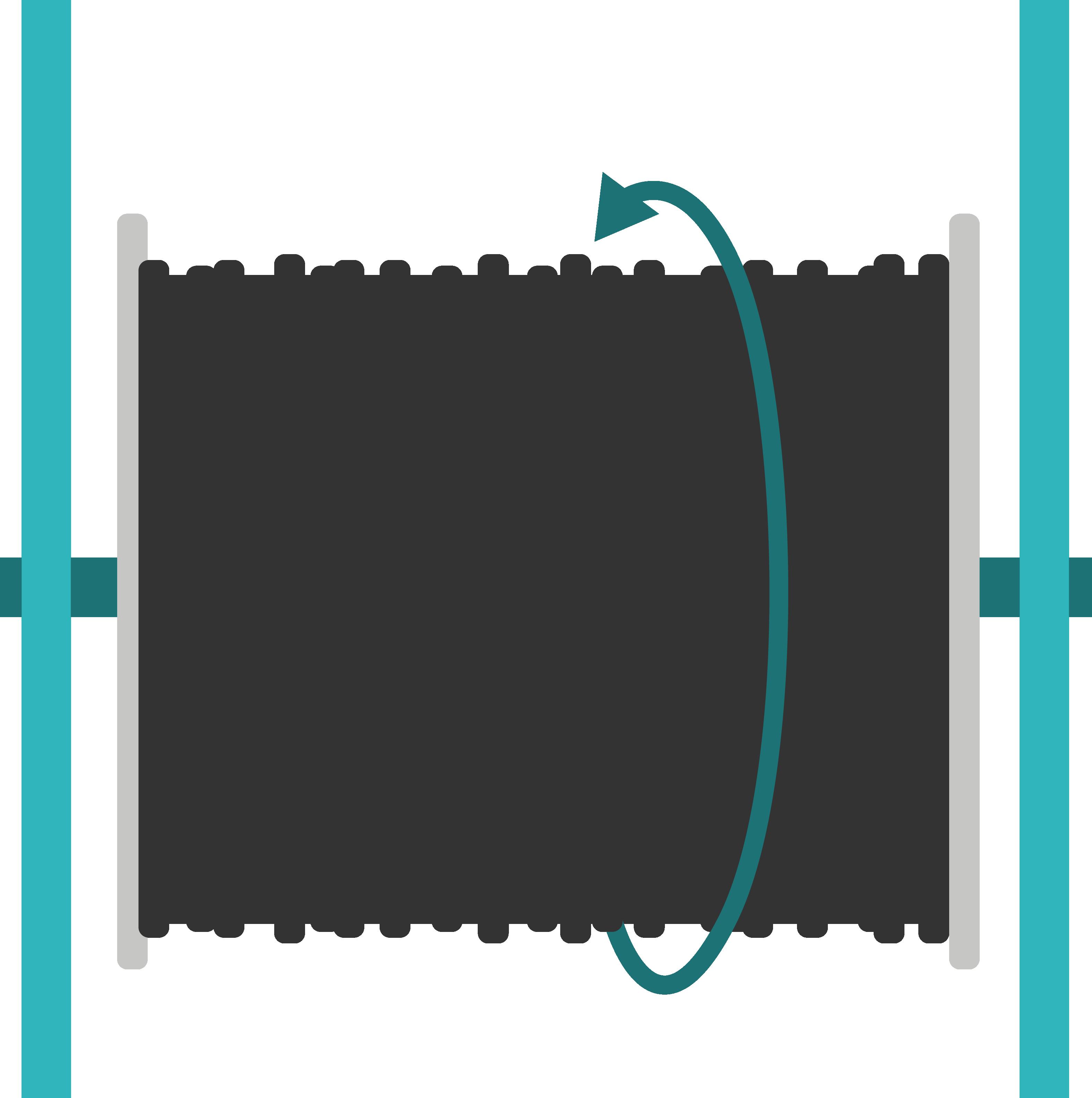 schéma de chandelles à vérin pour le déroulage de câbles télécoms