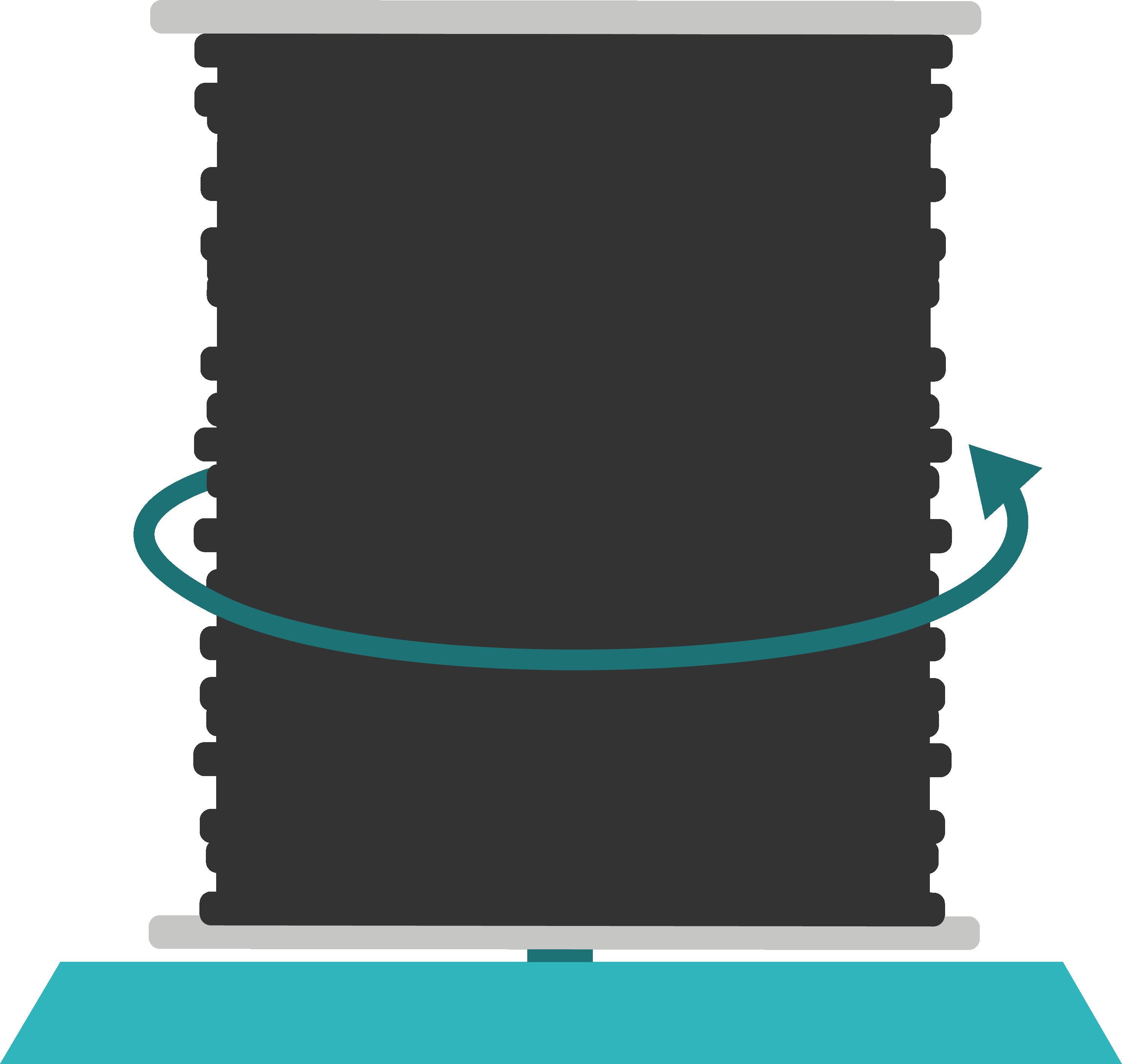 schéma d'un dérouleur vertical pour le déroulage de câbles télécoms