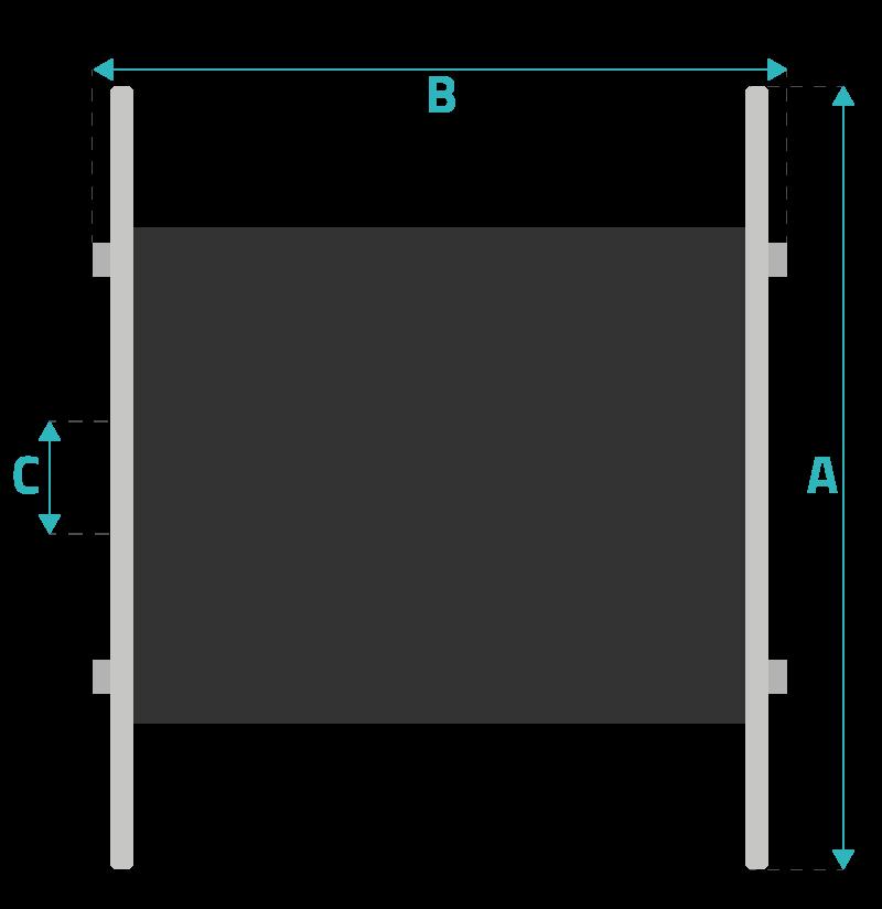 schéma des dimensions d'un touret de câble télécoms